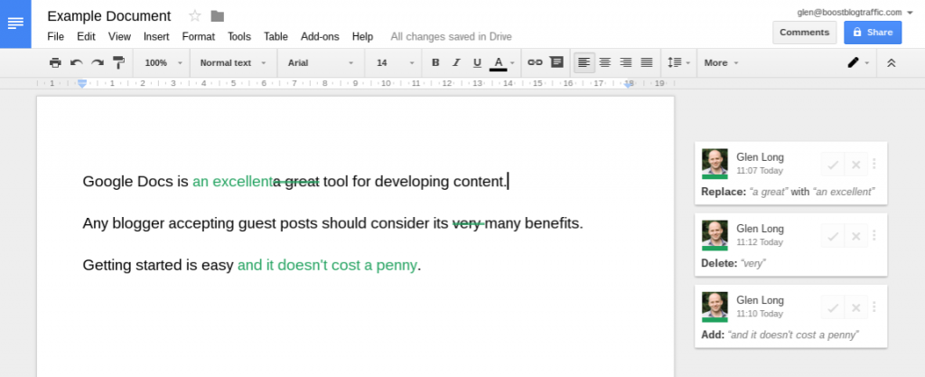How to collaborate in Google Docs