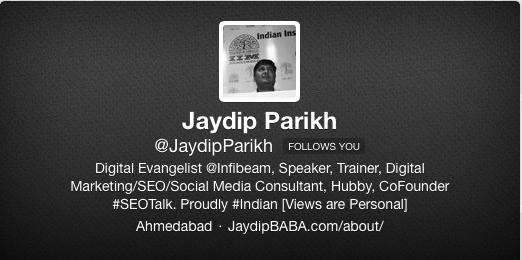 Jaydip Twitter Profile