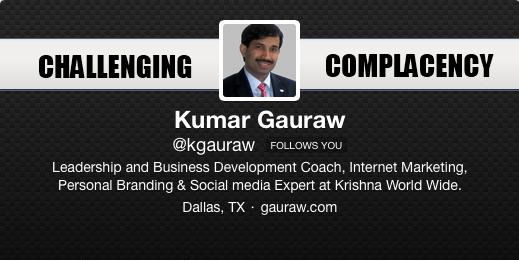 Twitter Kumar Gauraw