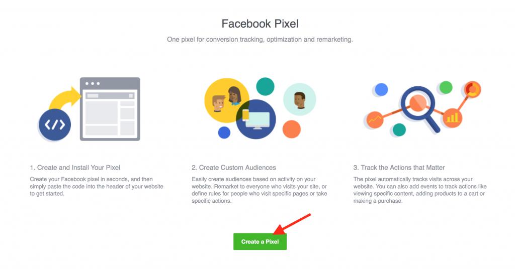 Create new Pixel Facebook