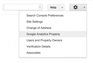 Associate analytics with webmasters tools