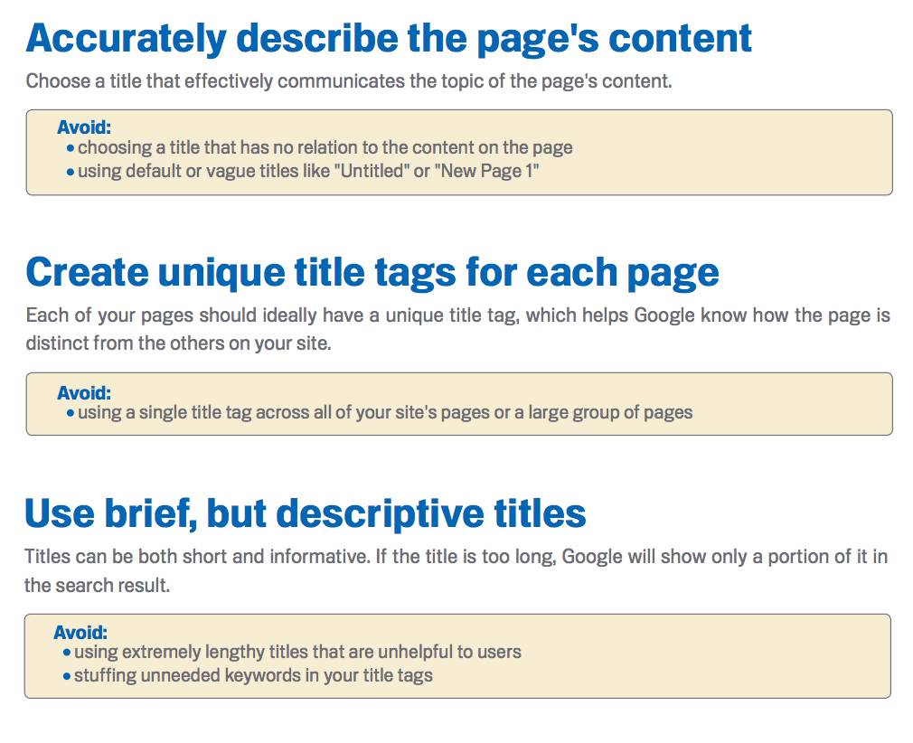 Page Titles SEO