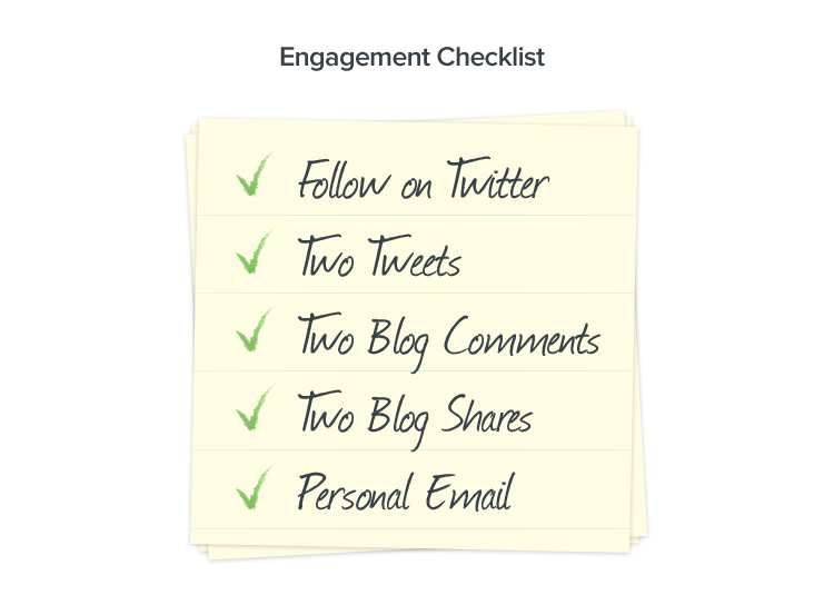 Outreach checklist