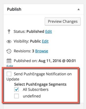 send automatic push notifications