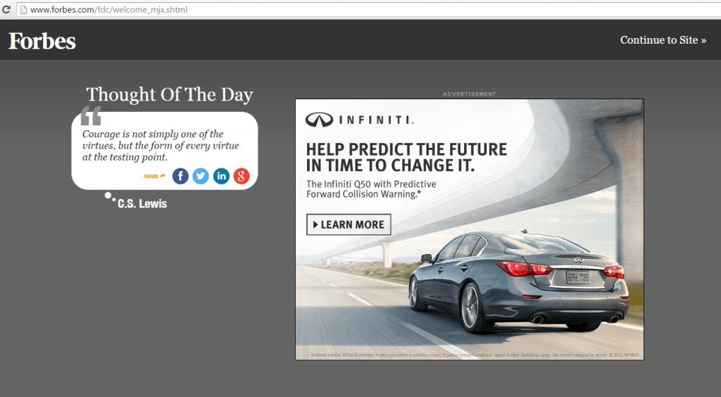 Monetizing Like Forbes Online Magazine