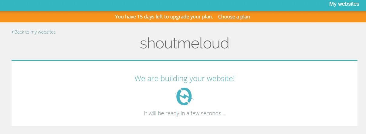 Build website on Themecloud