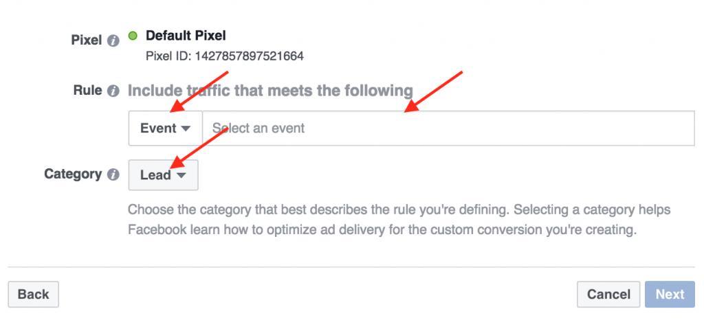 facebook custom conversions rules