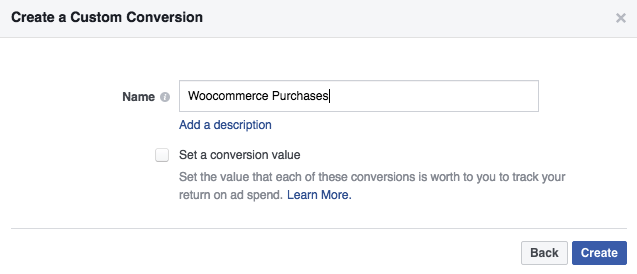 woocommerce conversions facebook