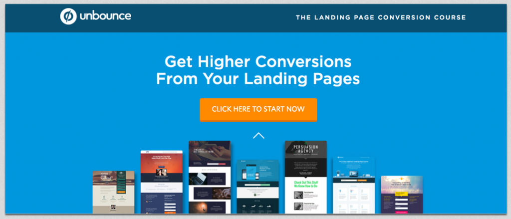 unbounce landing page exampe