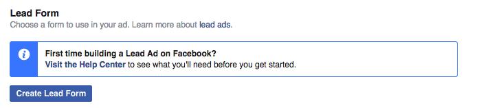 Setup Facebook Lead Ads Step 1