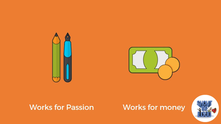 Those work for passion and those who work for money