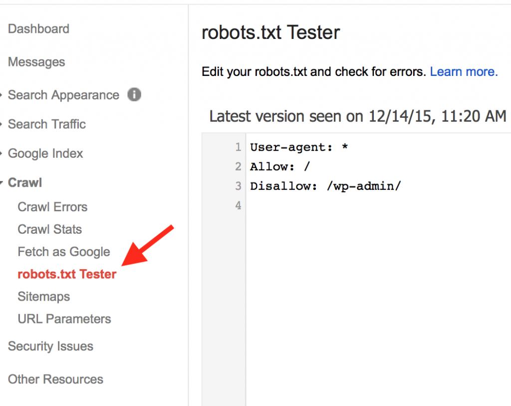 robots txt tester