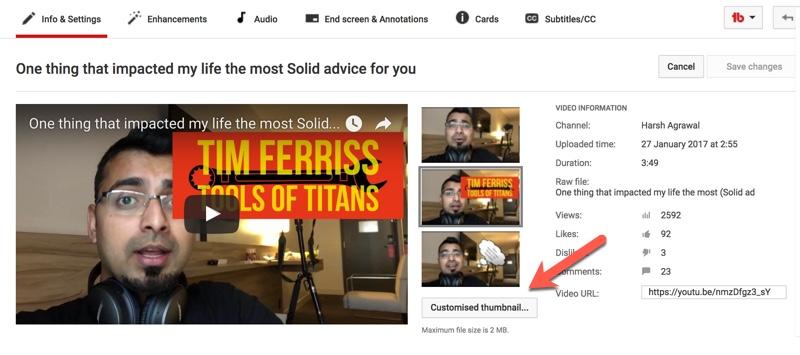 Use A Custom Thumbnail