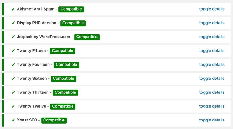 PHP 7 compatibility checker WordPress plugin