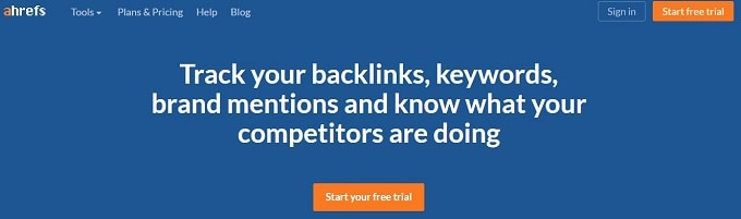 Ahrefs SEO Backlink Checker