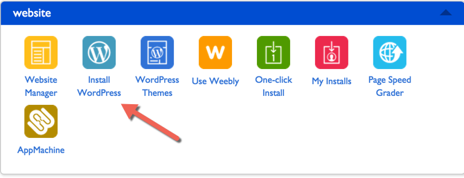 Install WordPress blog on Bluehost
