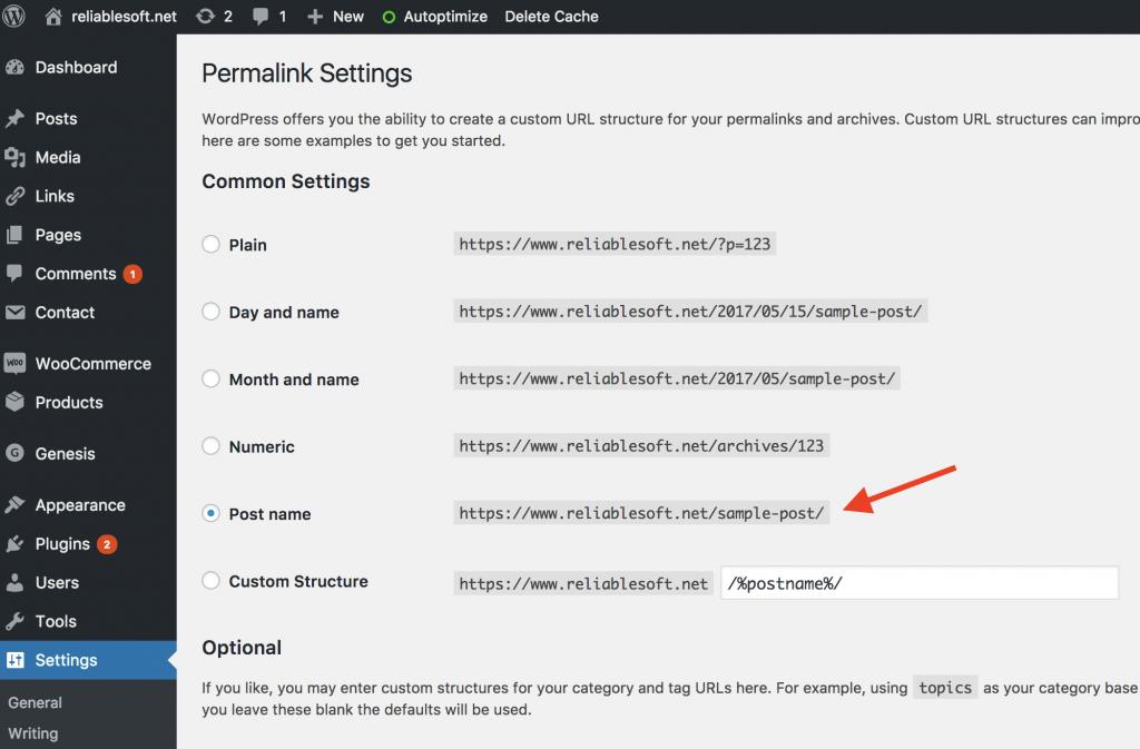 Best WordPress Permalink Structure
