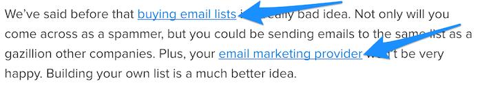 Add internal blog links.