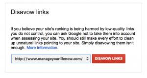 google disavow tool links