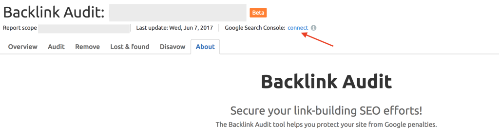semrush connect to google console