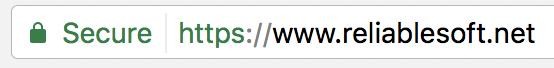 secure websites in browser