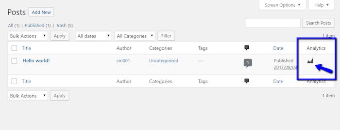 Access Google Analytics Per Post