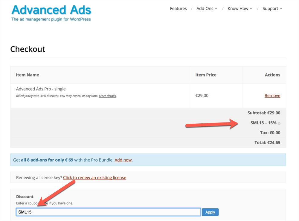 Advanced Ads coupon