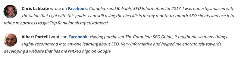 Customer Reviews for Product Page SEO
