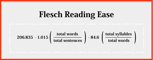 Flesch Reading Ease formula