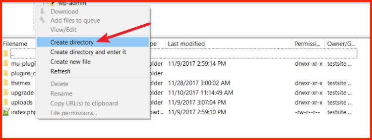 Create a new plugins folder
