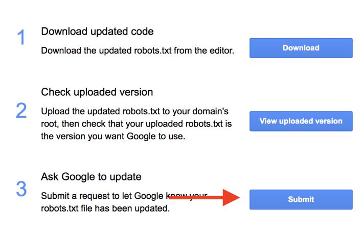 Robots.txt Submit Updates