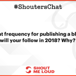 Blog Plan For 2018 – A Shouter's Chat Recap