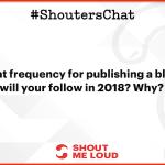 Blog Plan For 2018 – A Shouter's Chat Recap