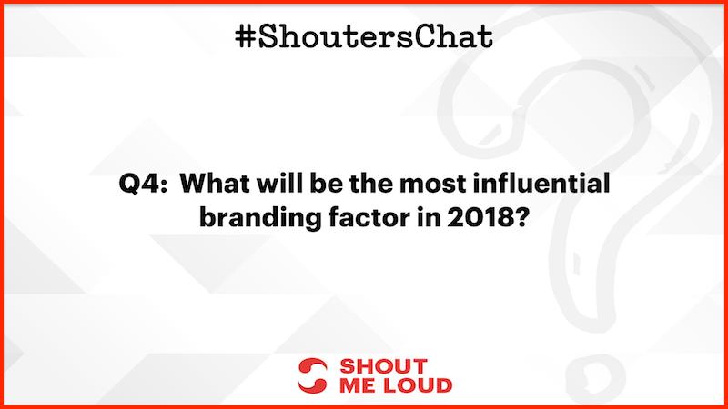 Most influential branding factor in 2018