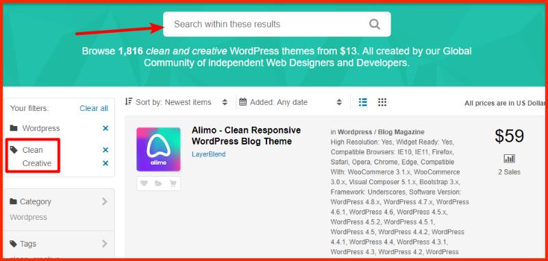 WordPress Theme at ThemeForest