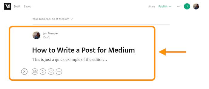 Medium Post Editor