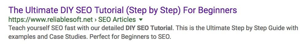 Example of SEO Optimized Title