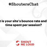 Lowering down your blog's bounce rate – A #ShoutersChat Recap
