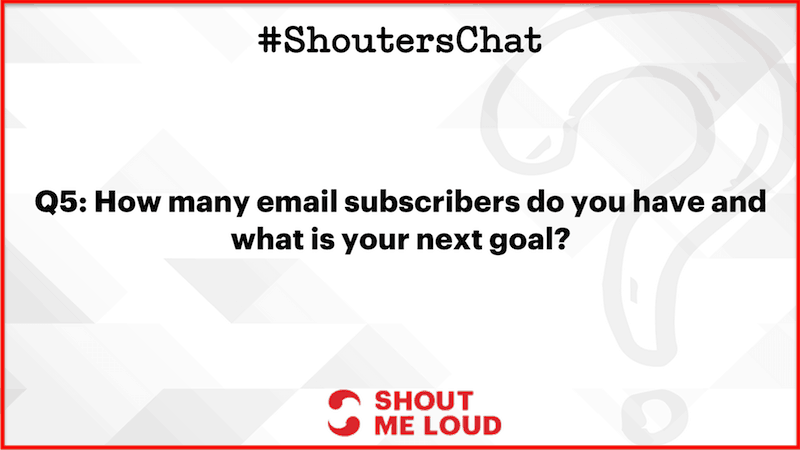 email subscribers goal