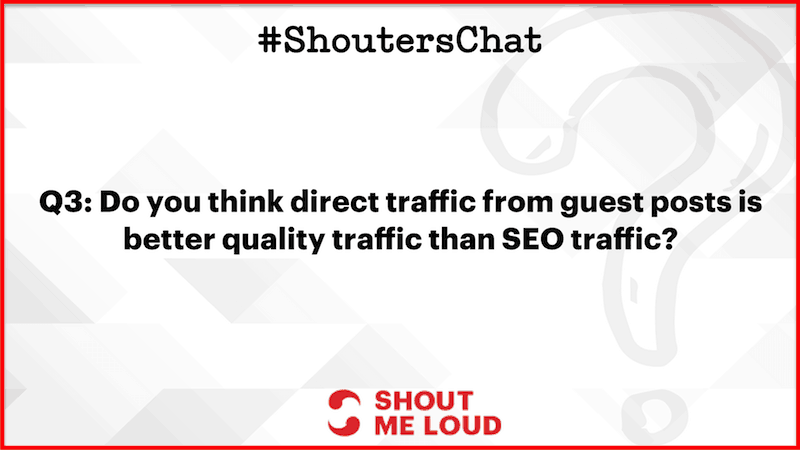 Direct traffic from guest posts or SEO traffic