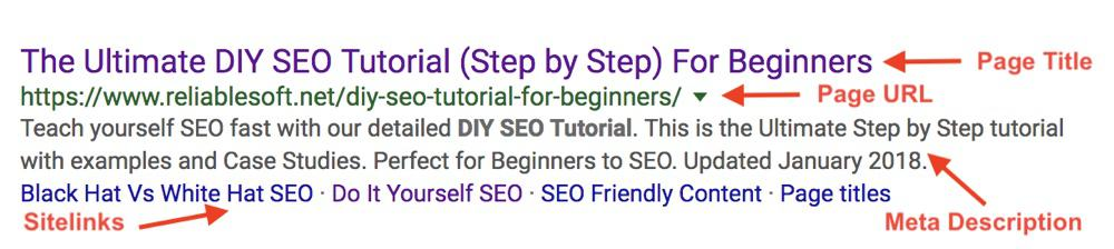 Google Search Results Snippet