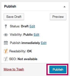 WordPress - Publish