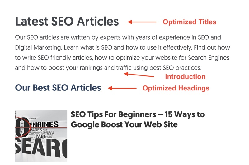 SEO Optimized category example