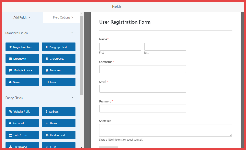 WPForms User Registration