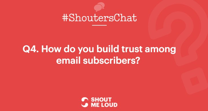 Build trust among email subscribers?