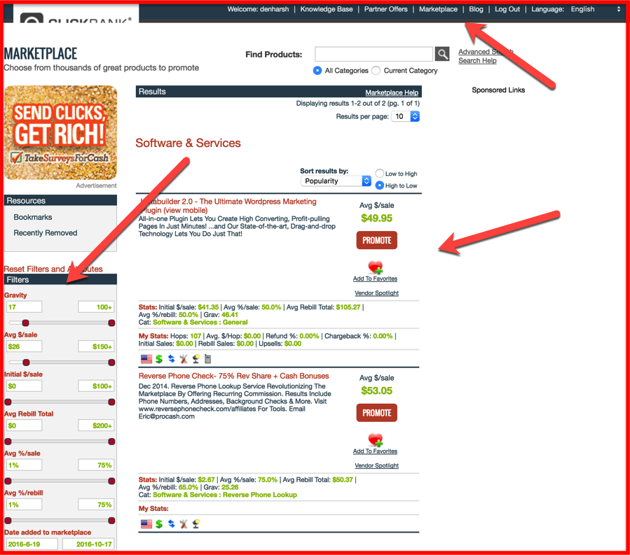 search-products-on-Clickbank