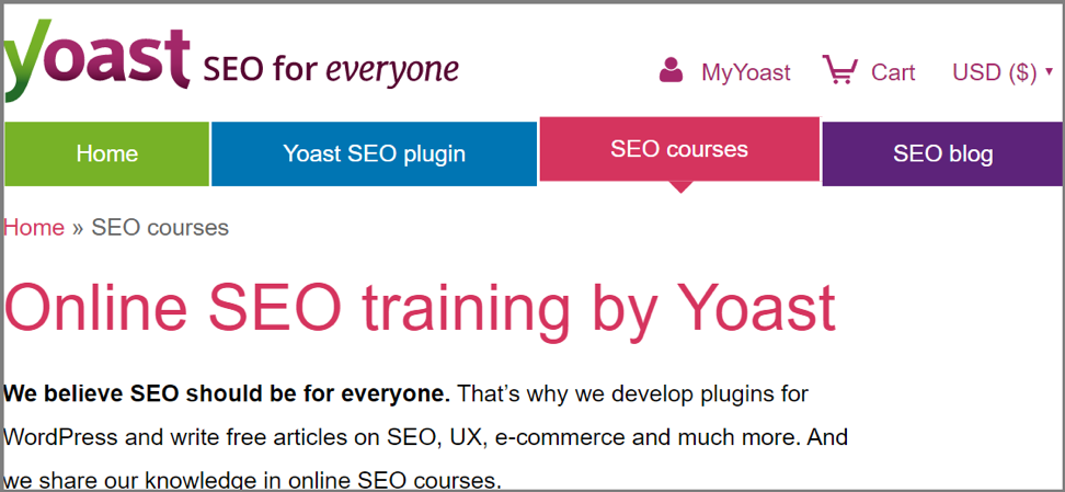 Yoast SEO Training