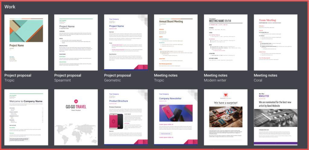 Google docs meeting minute template