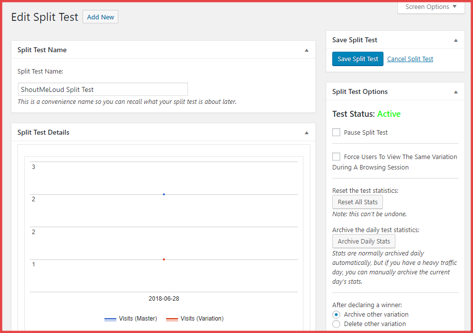 Simple Page Tester analytics