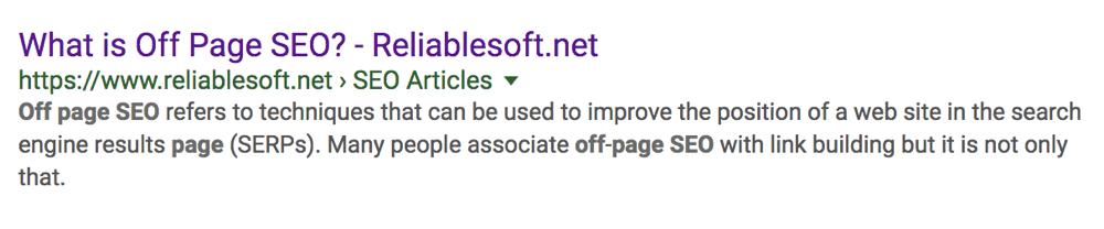 Optimized Meta Description Example